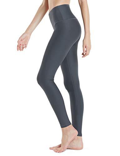 Tesla TM-FYP52-DGY_Small Yoga Pants High-Waist Tummy Control w Hidden Pocket FYP52