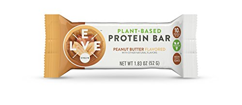 (Evolve Plant-Based Protein Bars, Peanut Butter, 10g Protein,1.83Oz 12 Count)