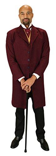- Historical Emporium Men's Gillespie Brushed Cotton Frock Coat 48 Burgundy