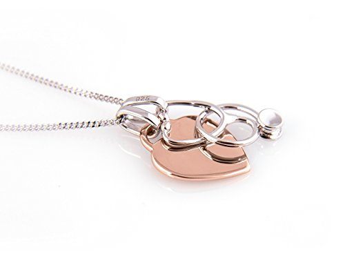 Nurse Gift Stethoscope Necklace with Rose Gold Plated Heart Charm