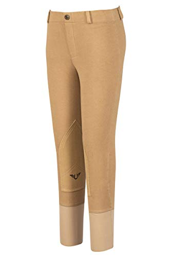 TuffRider Girl's Starter Lowrise Pull-On Breech, Sand, 16