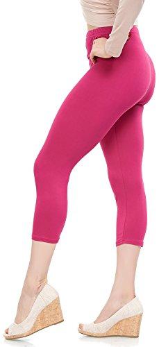 - LMB Lush Moda Extra Soft Capri Leggings - Variety of Colors - Fuchsia