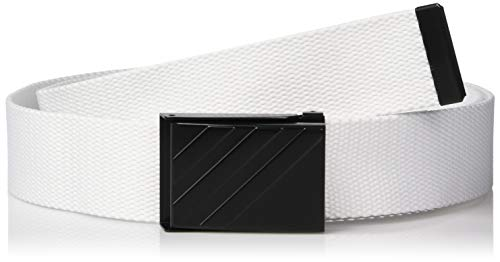 adidas Golf Webbing Belt, White, One Size