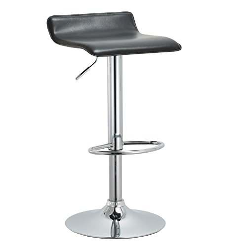 ary Backless Height Adjustable Swivel Barstool with Footrest, 22