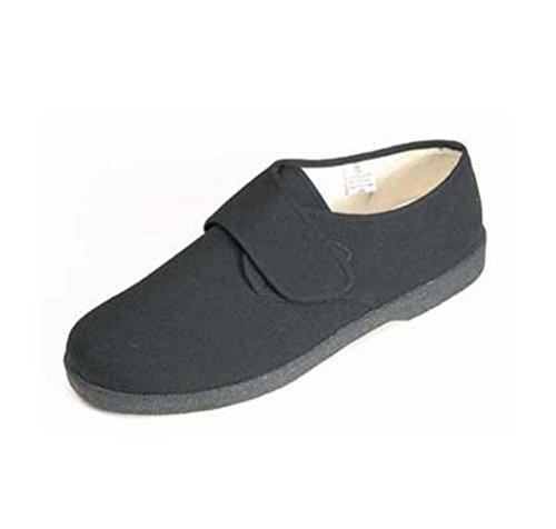 Waschbare gehende Schuhe der persönlichen Noten-Männer Segeltuch mit Flausch-Schließung Schwarz