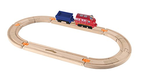 Chuggington Wooden Railway Easy Track Starter Set - Wilson Rides the Rails