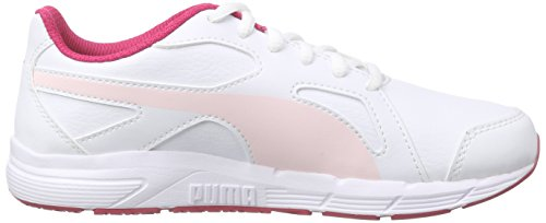 Puma Axis V4 Sl Jr - Zapatillas Unisex Niños Blanco - Weiß (white-pink dogwood 04)