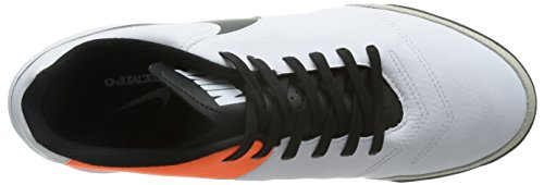 Nike Mens Tiempo Genio Ii Pelle Tf Bianco / Nero Scarpe Da Calcio Total Orange Turf 7 Uomini Us