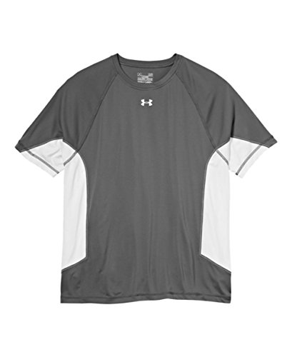 Under Armour Men's UA Recruit T-Shirt (X-Large, Graphite/White/White)