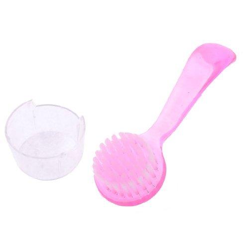 Punho DealMux Plastic Massagem Rodada cerda face da limpeza Facial lavagem Escova Cuidados com a pele