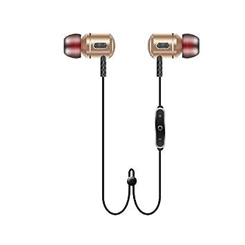 HHLUW Nueva Moda Auricular Bluetooth HiFi Auriculares Manos Libres Inalámbricas Estéreo con Micrófono, Oro