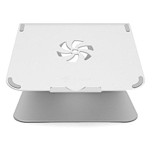 ROUHO Silver Metal Notebook Laptops Stand Desktop Holder For Tablet Notebook