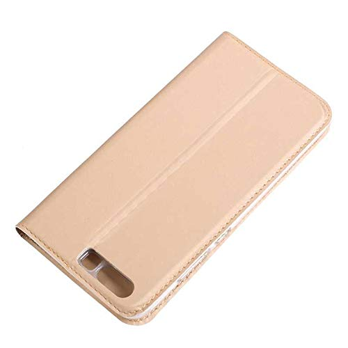 Huawei P10 Case, UNEXTATI Ultra Slim Wallet Flip Case with Card Holder and Magnetic Closure, Full Body Protection Bumper Cover for Huawei P10 (Gold #1) by UNEXTATI (Image #3)