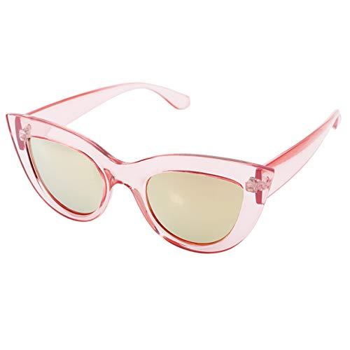 de vue EJY lunettes Femmes de de Lunettes Rond Rose soleil chat Des Cadre Oeil 707Upqw