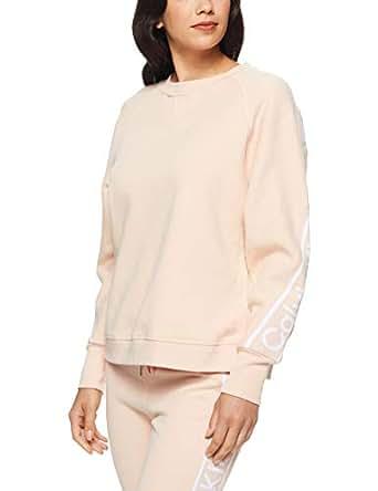 Calvin Klein Women's Cropped Oversized Pullover, Nectar, XS