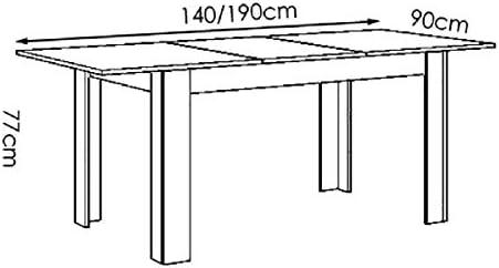 SZ Suarez Mesa Comedor Menzzo Extensible de 140cm hasta 191cm de ...