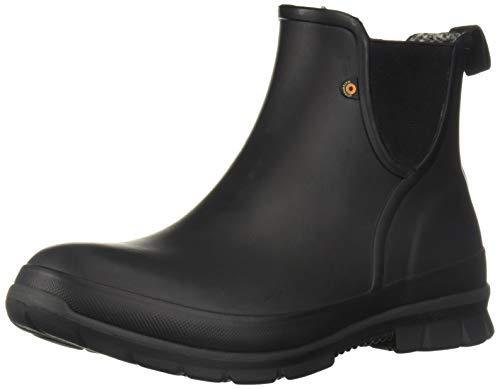 BOGS Women's Amanda Plush Slip ON Chukka Boot, Black, 8 Medium US (Women Bog Boots)
