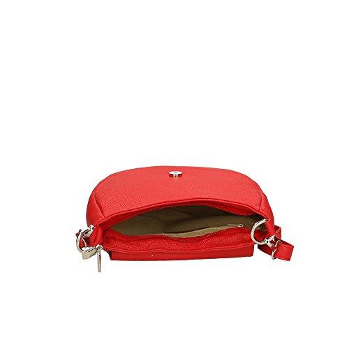 fabriqué italie femme en 23x18x7 Cm sac Aren d'épaule véritable Rouge cuir en pour w0xzAqa