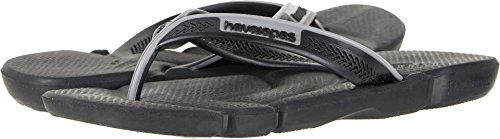 Havaianas Men's Power Flip Flops Black/Steel Grey 43-44 M - Shop Havaianas