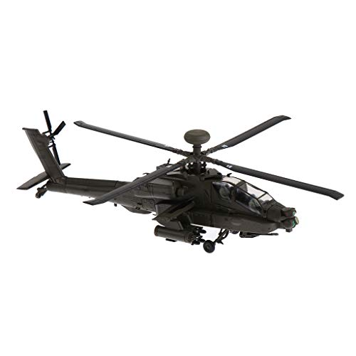 DYNWAVE 1/72 Alloy Diecast Aircraft Model - United States AH-64 Apache Helicopter Gunships Air Force Plane Model Toy Gifts ()