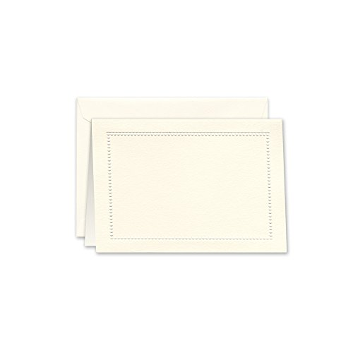 William Arthur Blind Embossed Ecru Beaded Border Note (B107030) Blind Embossed