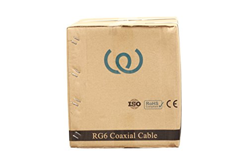 Coaxial Cable RG6 1000ft 18 AWG Bulk (WHITE) - WireShopper by Wire Shopper