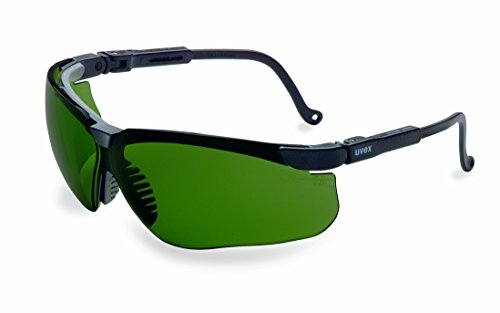 (Uvex by Honeywell Genesis Safety Glasses, Black Frame with Shade 3.0 Infra-Dura Lens & Ultra-Dura Anti-Scratch Hardcoat (S3207) )