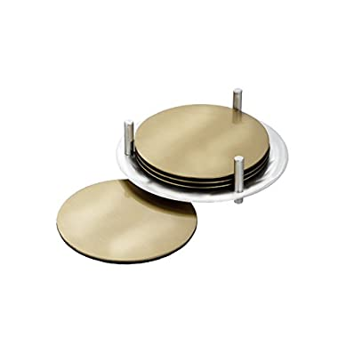 Marquis by Waterford Vim and Vigor Coaster with Holder (Set of 4), Gold