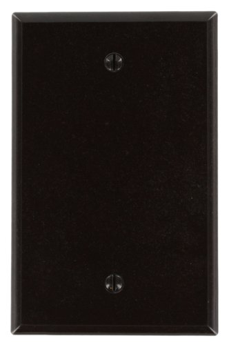 Leviton 80514 1-Gang No Device Blank Wallplate, Midway Size, Thermoset, Box Mount, Brown (Plate Brown Wall)