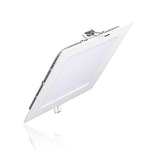 PRODELI LED Panel Light Square Flat Ceiling Fan Lighting Bulb Daylight for Home Indoor 9W AC85-265V 6000K Cool White