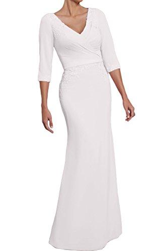 Weiß Weiß mujer Vestido Topkleider para Topkleider Vestido mujer para f4E68WFF