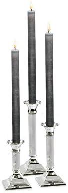 EDZARD Kerzenleuchter Lincoln H/öhe 19 cm anlaufgesch/ützt kannelierter Schaft edel versilbert