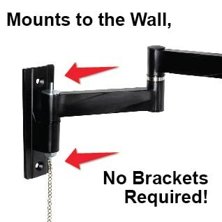 """Master Mounts 2311L Locking RV TV Mount Lockable Full Motion TV Wall Mount Easy to Reach Chain Release Perfect for RVs Campers Trucks Mobile Homes, Articulates Swivels Tilts, Fits up to 42"""" 100x100"""
