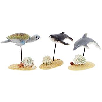 14b02d42937ce Amazon.com  Blossom Bucket Set of 3 Marine Life Figurines - Sea ...