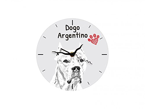 Dogo Argentino, freestanding MDF Floor Clock with an Image of a Dog 1
