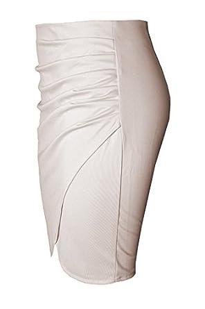 32f25f9f0 Cekaso Women's Tulip Skirt High Waist Slim Fit Knee Length Draped Pencil  Skirt at Amazon Women's Clothing store: