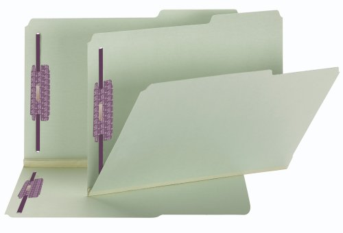 Smead Pressboard Fastener File Folder with SafeSHIELD Fasteners, 2 Fasteners, 2/5-Cut Tab Right Position, 2