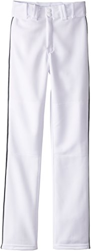 (Easton Boys' Youth Quantum Plus Baseball Pants with Piping (White/Black, Youth Small) )