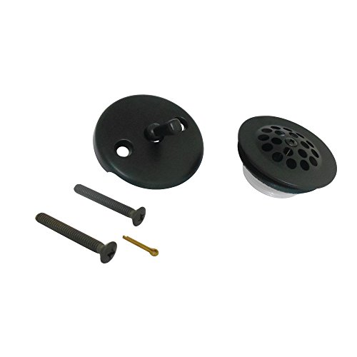Kingston Brass DTL5305A0 Trimscape Grid Tub Drain Kit, Matte Black