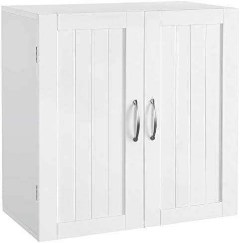 Topeakmart Home Kitchen Bathroom Laundry 2 Door 1 Wall Mount Cabinet, White, 23in x 23in
