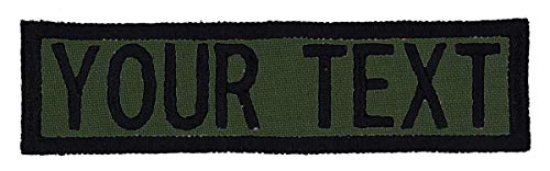 Personalized Olive - Custom Morale Name Tapes with Border! Personalized Text 1