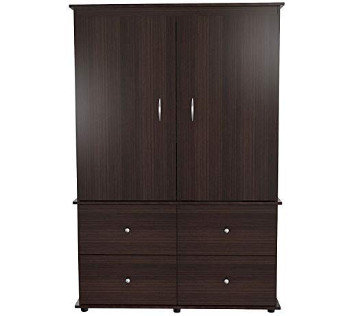 (Inval America AM-13923 Wood Armoire Audio/Video Combo, Espresso-wengue)