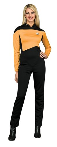 Secret Wishes  Star Trek the Next Generation Woman's Deluxe Gold Jumpsuit, Adult Small ()