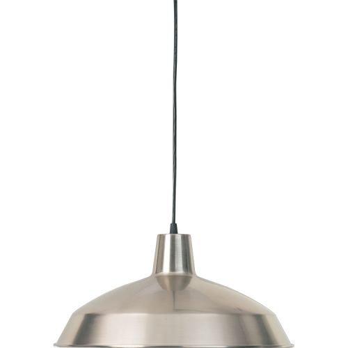 16 Inch Dome Pendant (Quorum International Q6822 1 Light Barn Light Pendant with Metal Dome Shade, Satin Nickel)