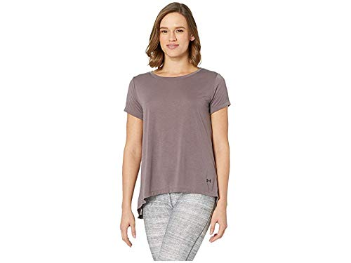 Under Armour Women's UA Whisperlight Short Sleeve Fold-Over Ash Taupe/Ash Taupe/Tonal X-Small