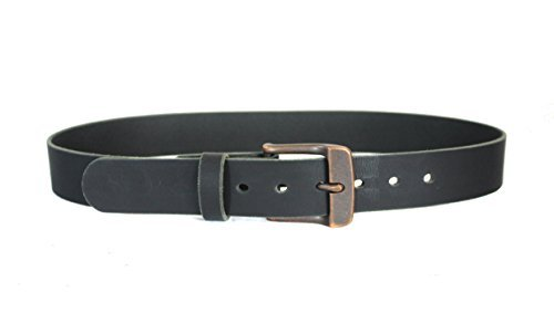 American Bison Casual Belt Charcoal Grey, Modern Buckle, Hand Made in USA  (42, Grey)