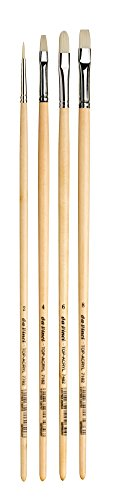 da Vinci Oil & Acrylic Series 5225 Top Acryl Long-Handled Paint Brush Set, Multiple Sizes, 4 Brushes (Series 7182, 7482, 7782)