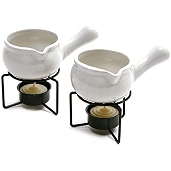 Norpro 210 Ceramic Butter Warmers, Set of 2, 1/3 cup/3 oz, White