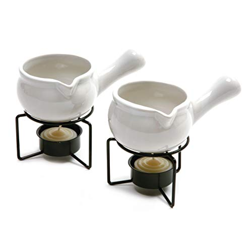 Butter Warmer Set - Norpro 210 Ceramic Butter Warmers, Set of 2, 1/3 cup/3 oz, White