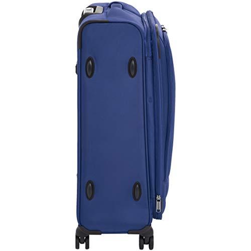 AmazonBasics Premium Expandable Softside Spinner Luggage With TSA Lock- 25 Inch, Blue